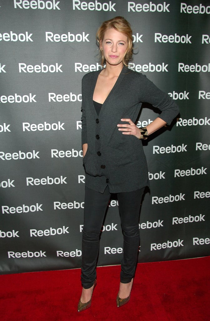 Wearing a pantsuit set to a Reebok event in 2008.