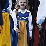 Princess Estelle Wears a Traditional Dress For National Day in 2019