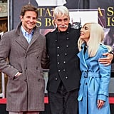 They stayed close (and warm) while celebrating Sam Elliott's hand and footprint ceremony.