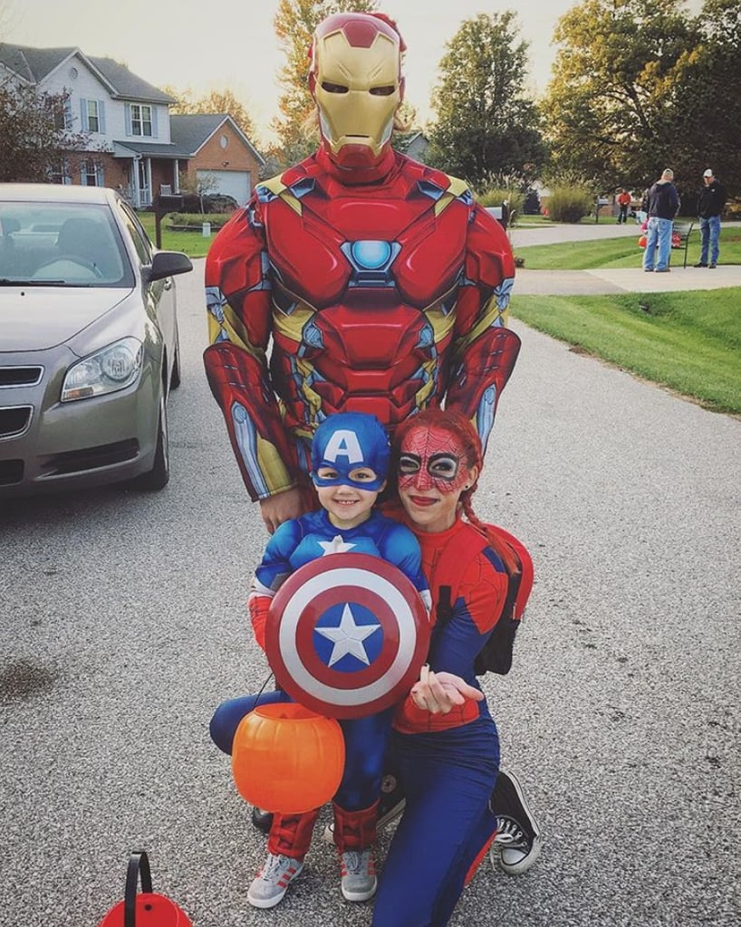 iron man spider man and captain america
