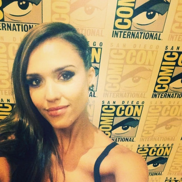 Jessica Alba let the world know she made it to the Comic-Con red carpet with this selfie.  Source: Instagram user jessicaalba
