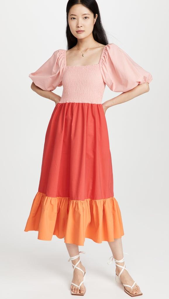 A Ruffled Sunset Confection: Rhode Eloise Dress