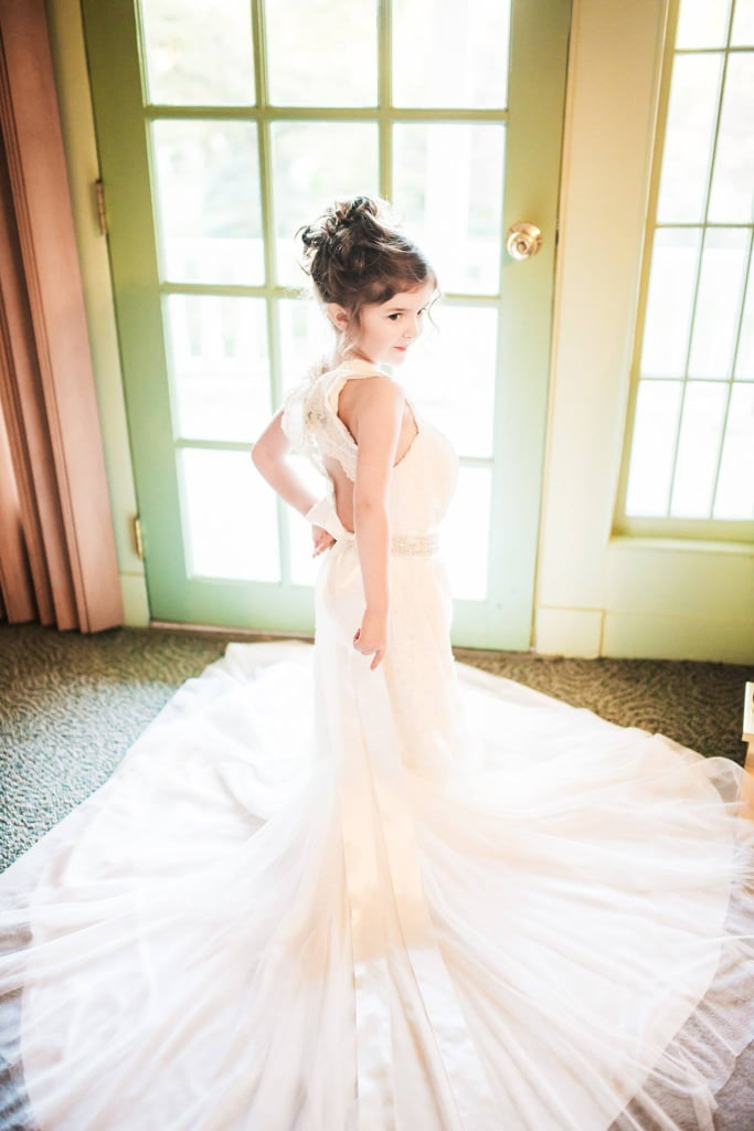 Toddler Wears Late Mom\'s Wedding Dress | POPSUGAR Family Photo 1
