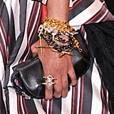 Liya Kebede played to the night's theme with an armful of edgy bracelets.