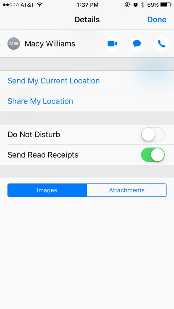 how to stop someone.from read reciept text