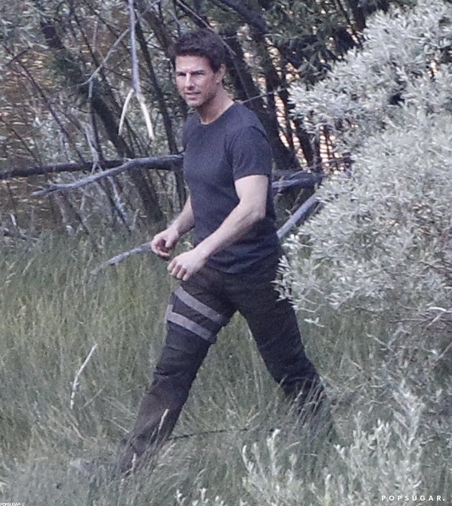 Tom Cruise was in tall grass on the Oblivion set in CA.