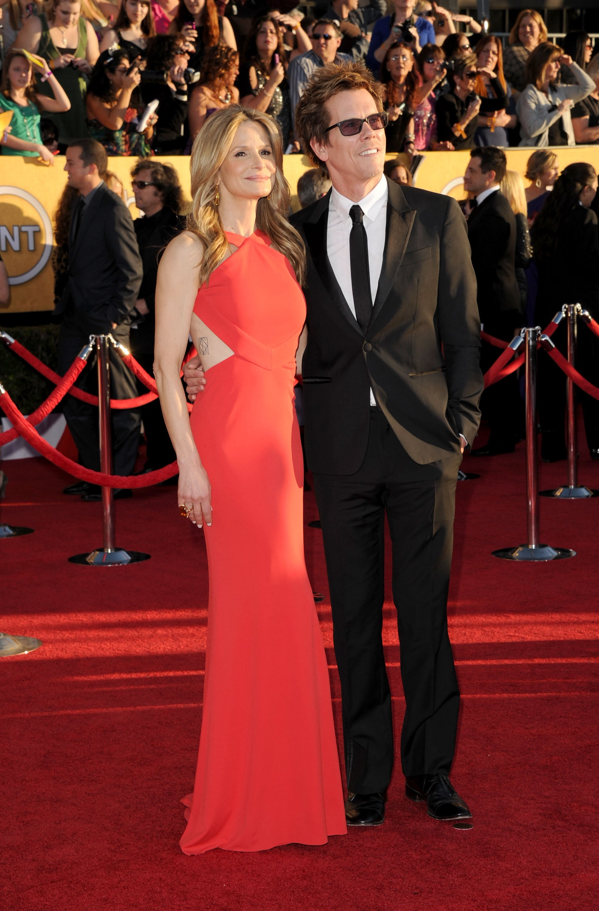 Kyra Sedgwick and Kevin Bacon at the SAG Awards