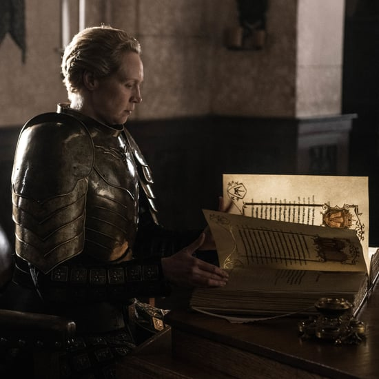 Brienne Writing Jaime Lannister's Deeds on Game of Thrones