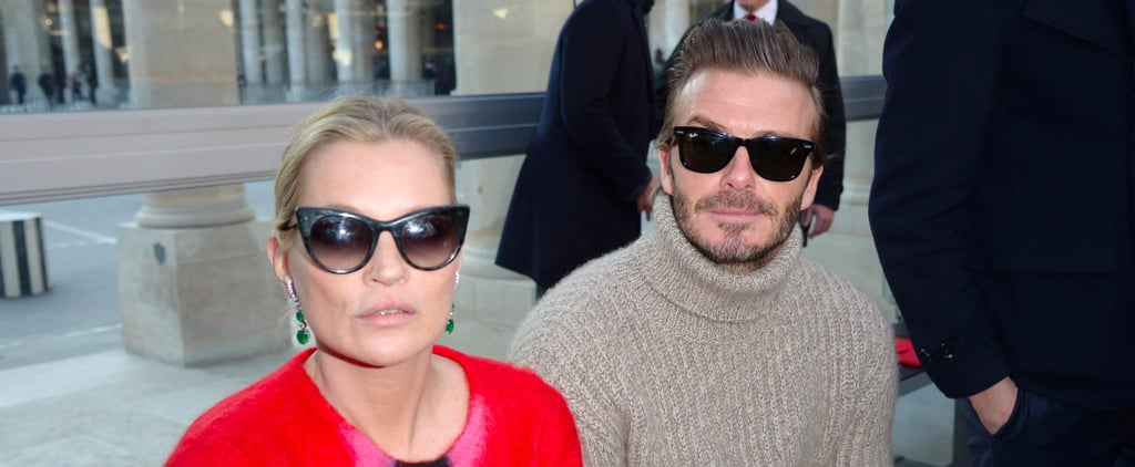 David Beckham and Kate Moss Make This the Coolest Front Row Ever