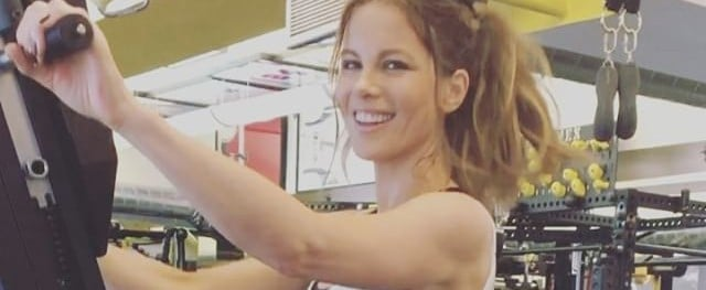 Kate Beckinsale Working Out at the Gym   Video