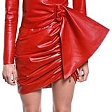 Redemption Draped Leather Blazer Mini Dress