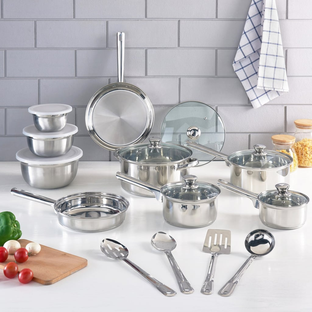 Mainstays Stainless Steel Cookware Set