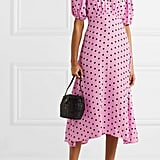 Faithfull The Brand Vittoria Polka-Dot Crepe Midi Dress