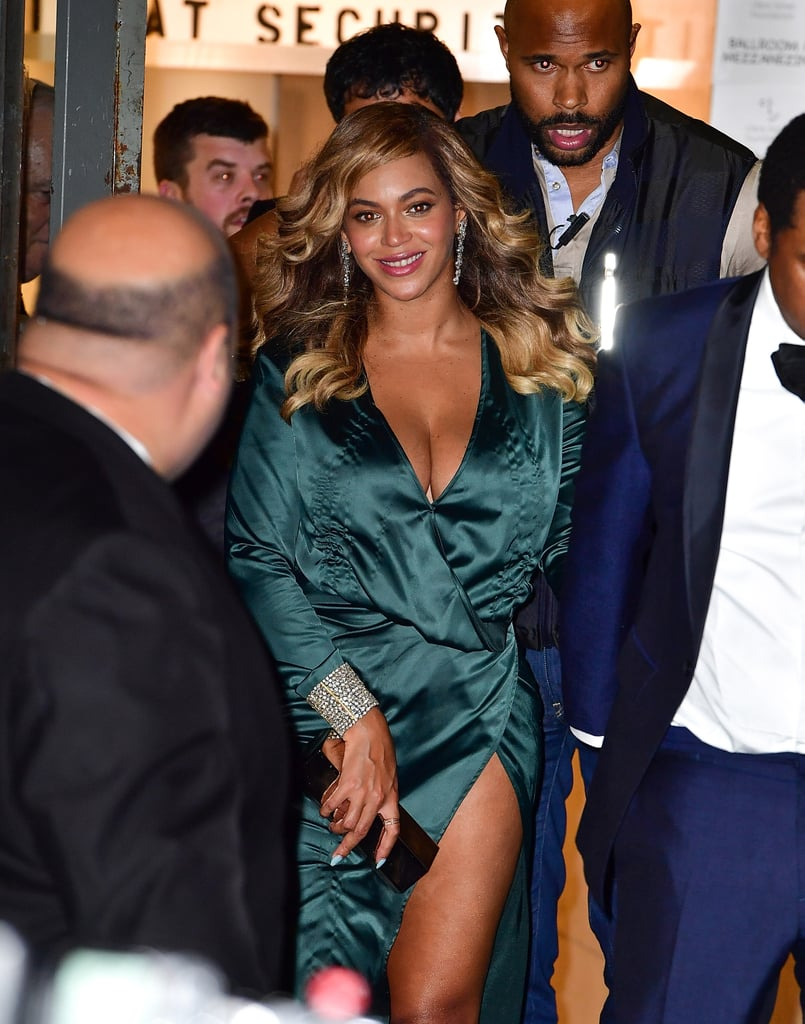 Beyoncé Wore an Emerald House of CB Gown