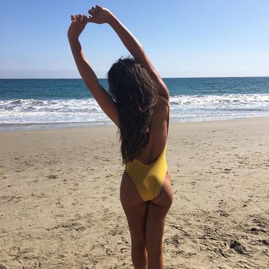 Lea Michele's Yellow One-Piece Swimsuit