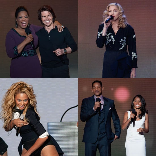 Tom Cruise, Will Smith, Beyonce Knowles Pictures at the Oprah Farewell Spectacular