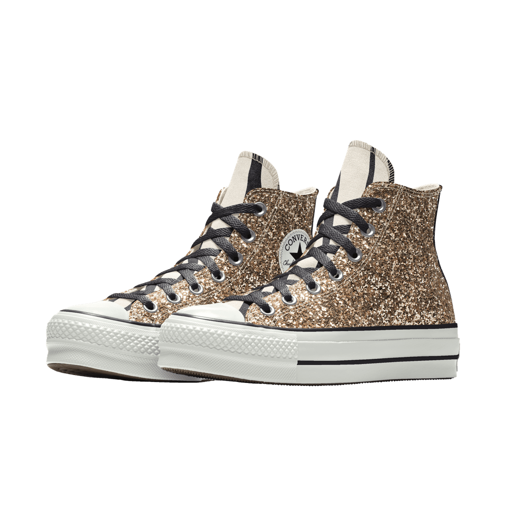 Converse Glitter Platform Chuck Taylor All Star By You