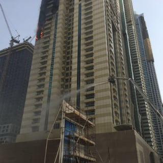 Businesses and Individuals Rush to Help in Dubai Marina Fire