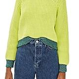 Topshop Metallic Trim Sweater