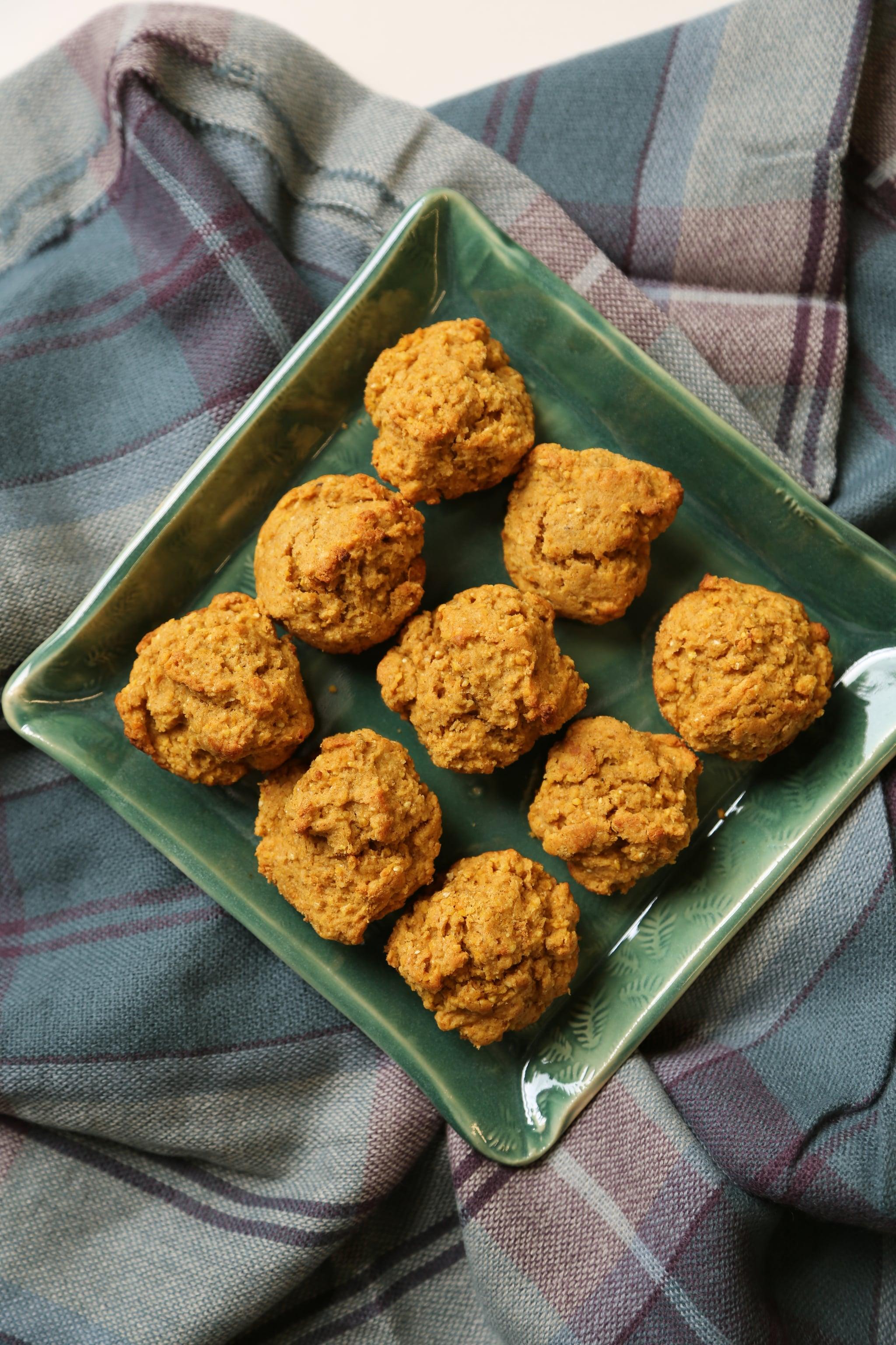 Pumpkin cornbread drop biscuits recipe popsugar food for Table 52 biscuit recipe
