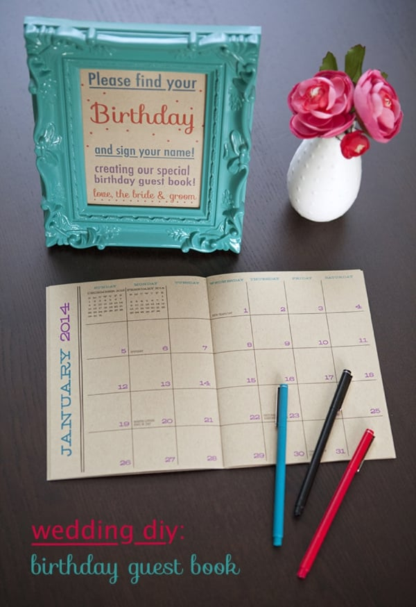 birthday calendar guest book free wedding guest book printables