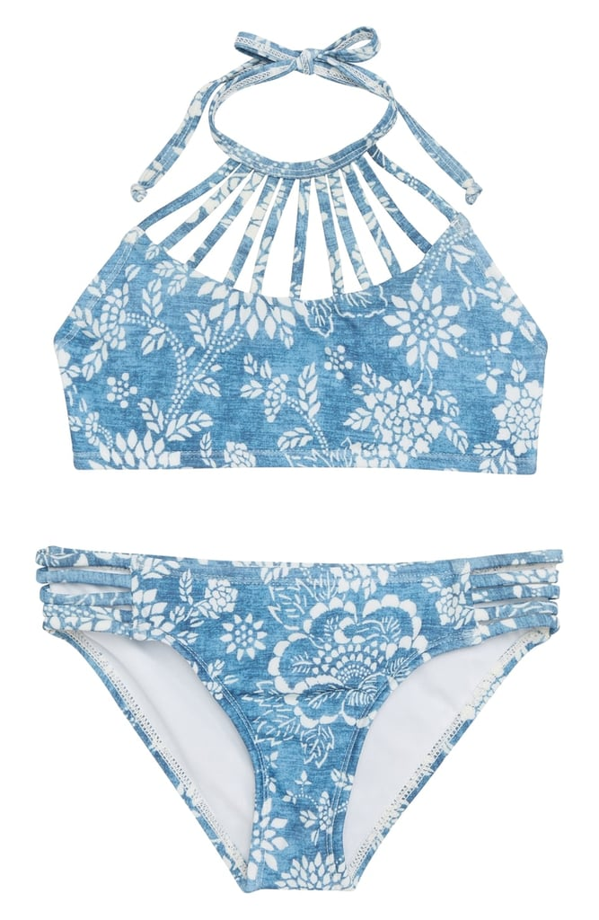 8375e0deff6 Billabong Indigo High Neck Two-Piece Swimsuit | Kids Clothes at ...