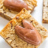 Peanut Butter Chocolate Chip Valentine's Blondies