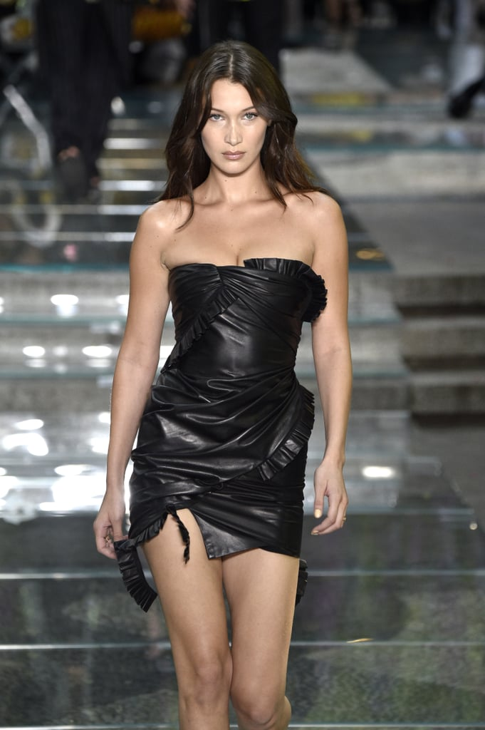 Bella Hadid Walking the Versace Runway at Milan Men's Fashion Week Spring/Summer 2019