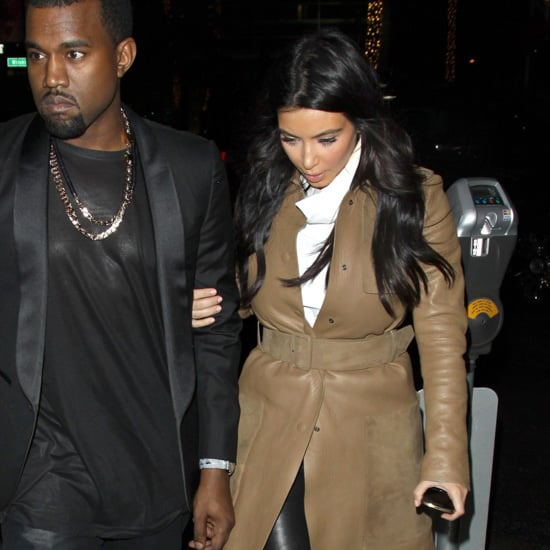 Kim Kardashian Wearing Camel Coat
