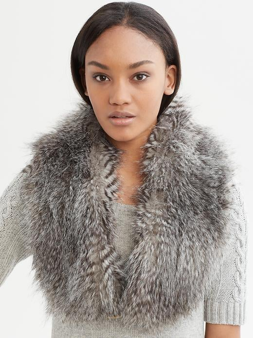 Pair this textural Banana Republic Sonia Faux-Fur Stole ($80) over a navy military coat for a sleek take on color contrast.