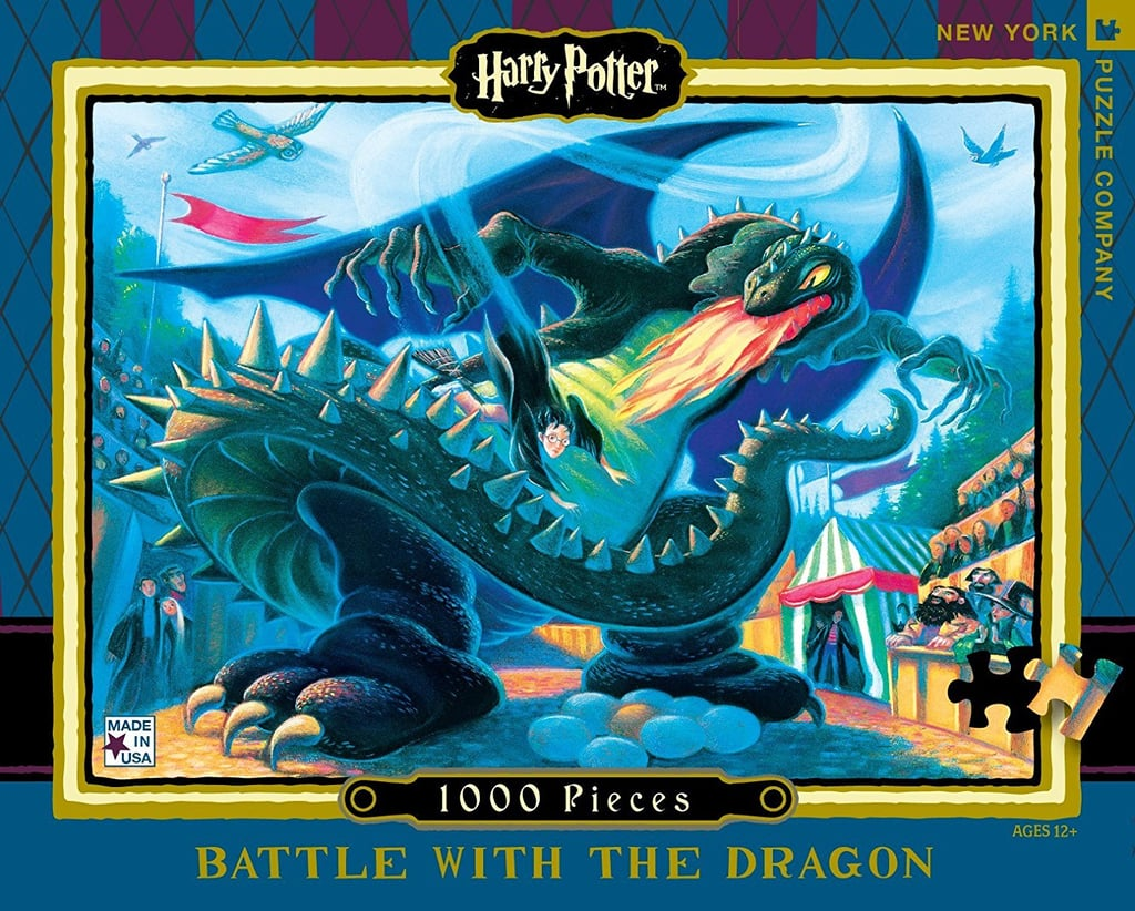 New York Puzzle Company Harry Potter Battle With the Dragon Jigsaw Puzzle