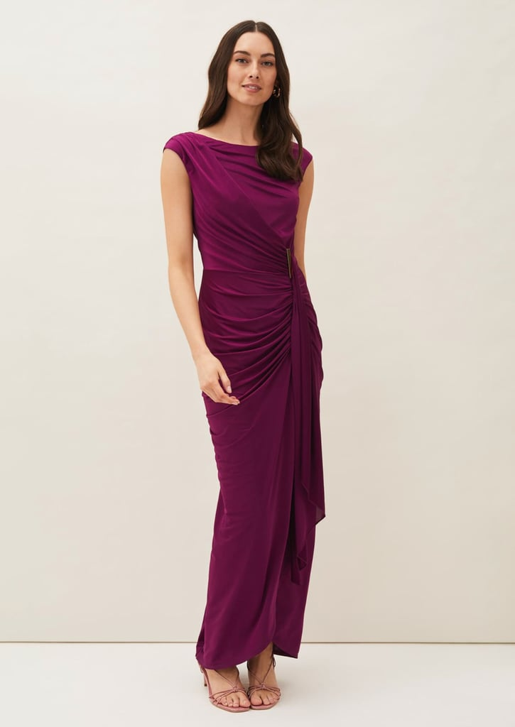 Purple Bridesmaid Dress: Phase Eight Donna Ruched Maxi Dress