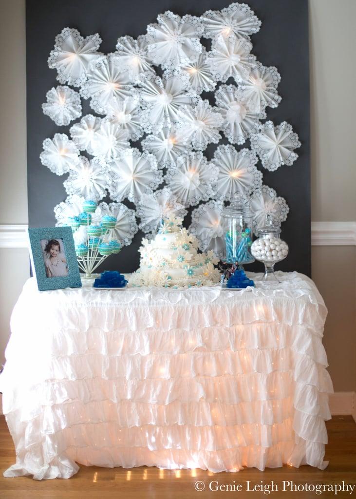 Snowflake Doilies Backdrop