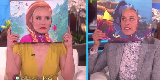 Cuteness Takes Human Form As Kristen Bell's Anna Meets Ellen DeGeneres' Dory IRL