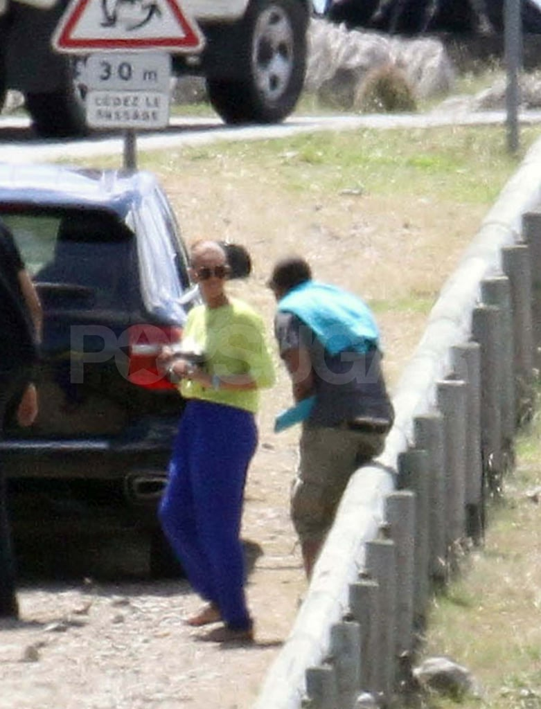 Jay-Z and Beyoncé Stop to Snap Pictures on Their St. Barts Vacation