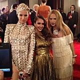 Karolina Kurkova, Jessica Alba, and Rachel Zoe made a styled trio at the Met Gala.
