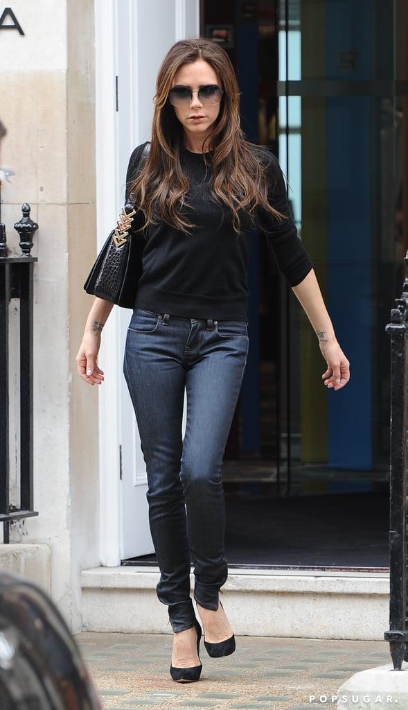 Victoria Beckham went shopping around London.
