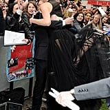 Charlize Theron Stuns in Sexy See-Through Gown at SWATH Premiere