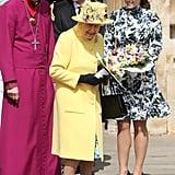 Princess Eugenie Queen Elizabeth II at Maundy Service 2019