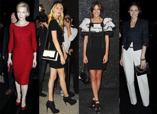Pictures of Celebrities at Paris Haute Couture Fashion Week, including Olivia Palermo, Katie Holmes and Cate Blanchett