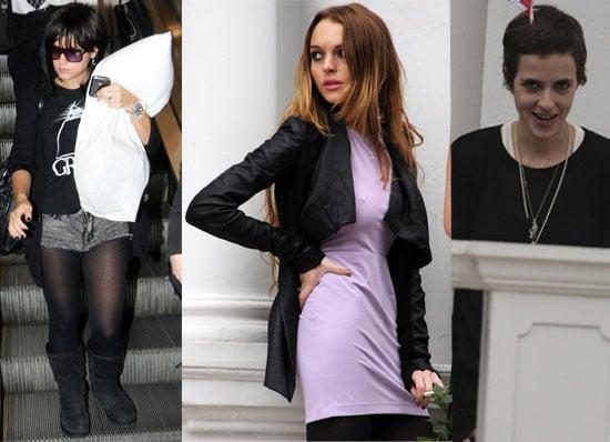 02/03/09 Lindsay Lohan, Samantha Ronson, Mark Ronson, Lily Allen