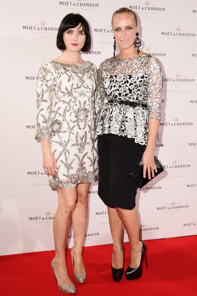 At the Moët & Chandon event at New York's Chelsea Piers, Michele Hicks joined Keren Craig in eveningwear.