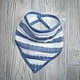 Aden + Anais Blue Stripe Bandana Bib