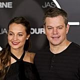 Alicia Vikander and Matt Damon at Jason Bourne Photocall