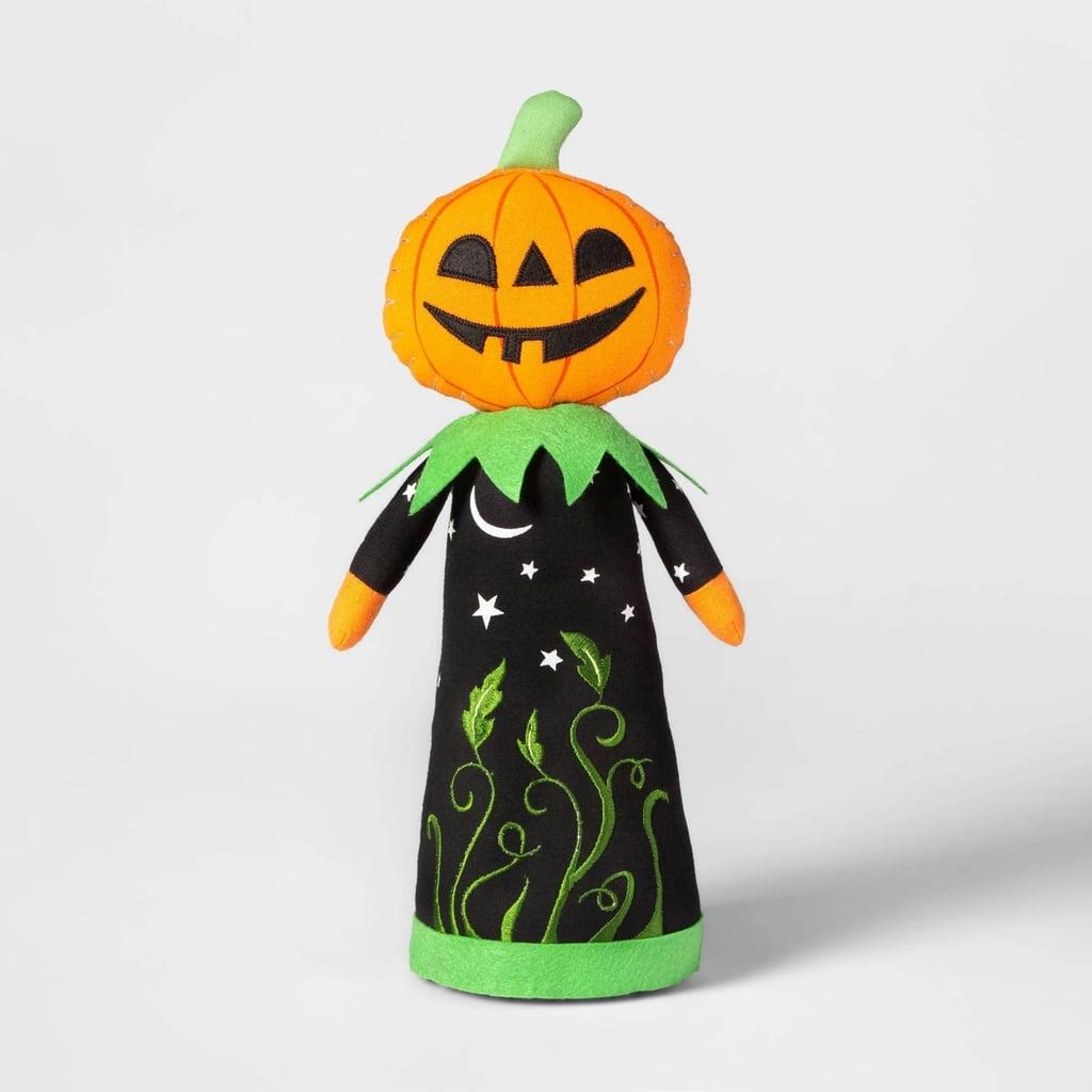 Standing Pumpkin Character Halloween Fabric Figure