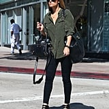 Lauren Conrad carried two handbags for an outing in LA.