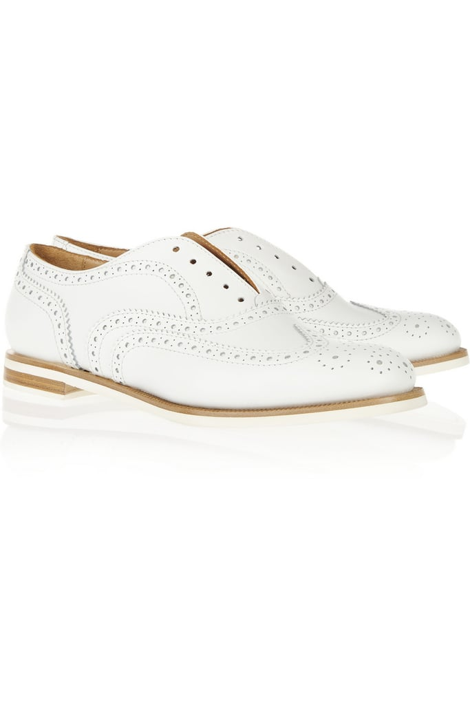 There's a part of me that thinks white shoes are a bad idea, but the part that thinks these Rag & Bone brogues ($495) are too cute to pass up is winning right now . . . especially when I think of how charming they'll look with my skinny jeans and a great tailored blazer to keep me polished — but comfortable — all Fashion Week long. — Hannah Weil, associate editor