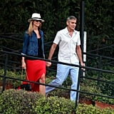 George Clooney Hits the Deck With Stacy and the Open Road With a Pal