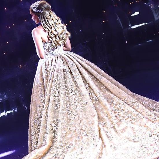 Lebanese Bride's Star-Embellished Zuhair Murad Wedding Dress