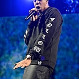 Jay Z rocked the DirecTV party with a performance.
